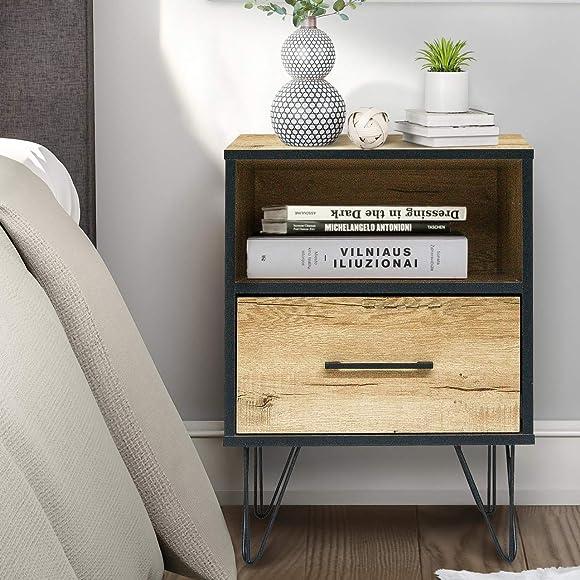 CAP LIVING Classic Multipurpose Wood Night Stand