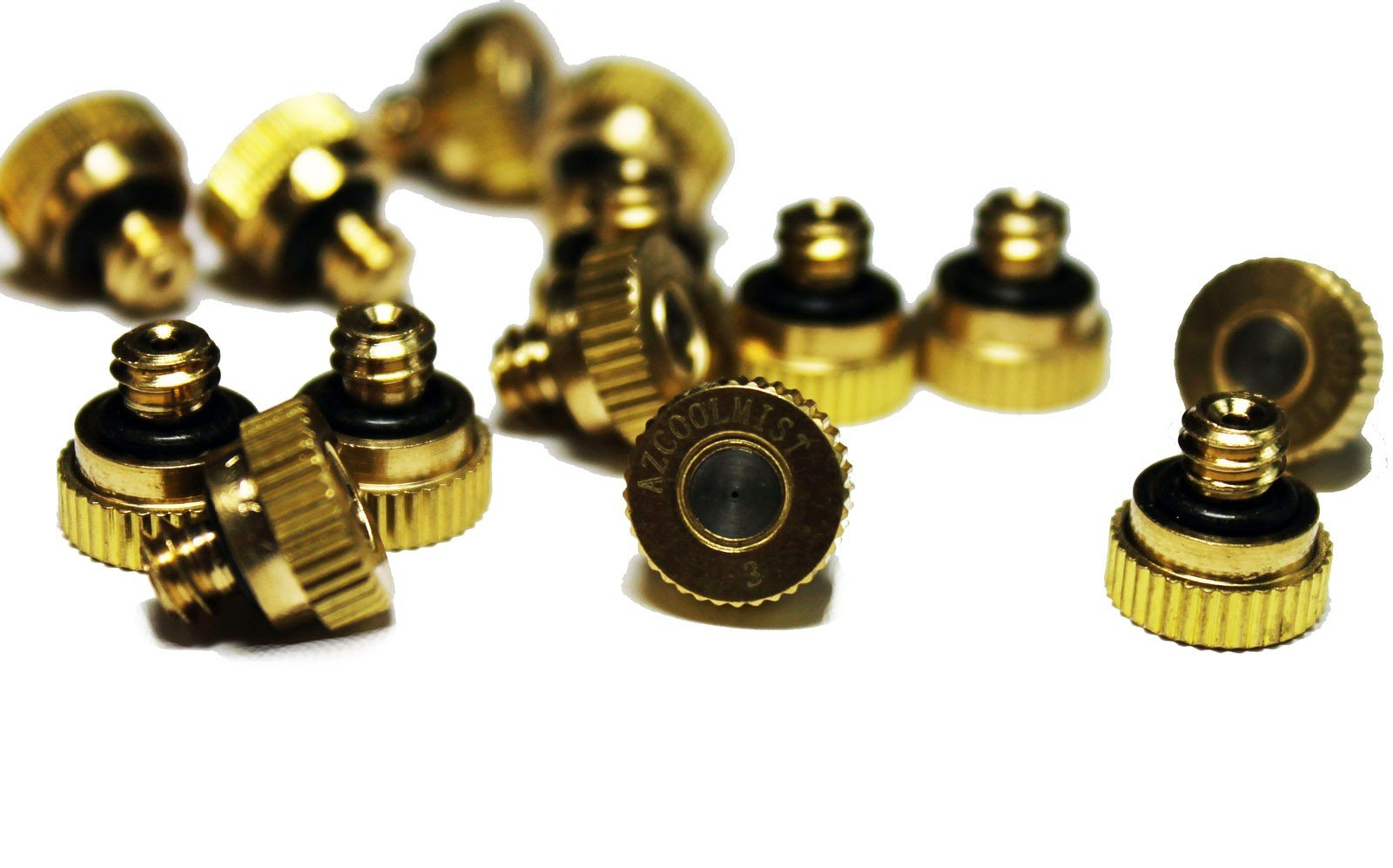 Brass Patio Outdoor Cooling Mist Nozzles (.020 /.5mm) by AZCOOLMIST