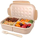 Jeopace Bento Box for Adults,Lunch Container for Kids,3 Compartments Portion Lunch Box,Food-Safe Materials,BPA-free,Leak…