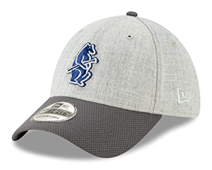 cd3d0e40 Image Unavailable. Image not available for. Color: New Era Chicago Cubs  39THIRTY Cooperstown Change Up Redux Gray Hat ...