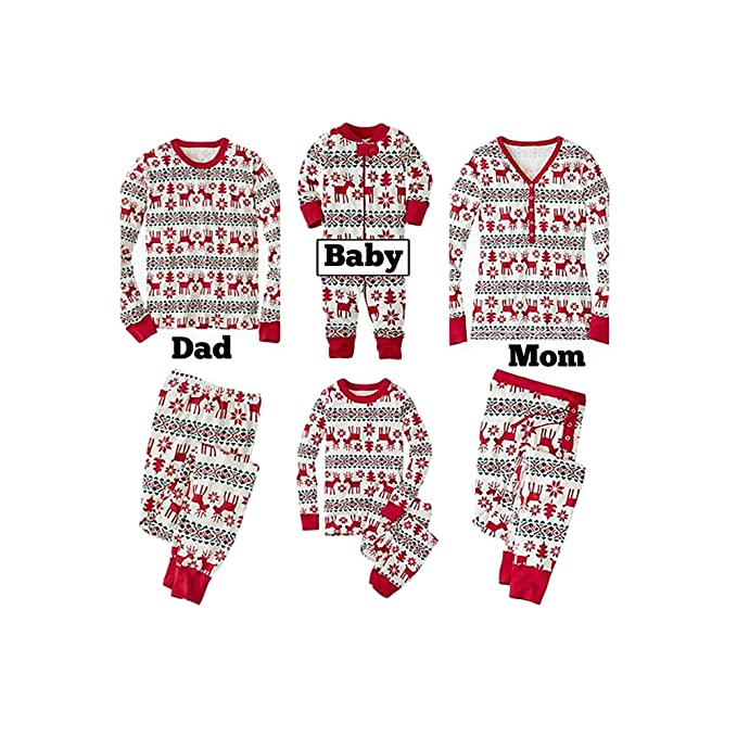 d80da2424d Morbuy Family Matching Xmas Pajamas Sets