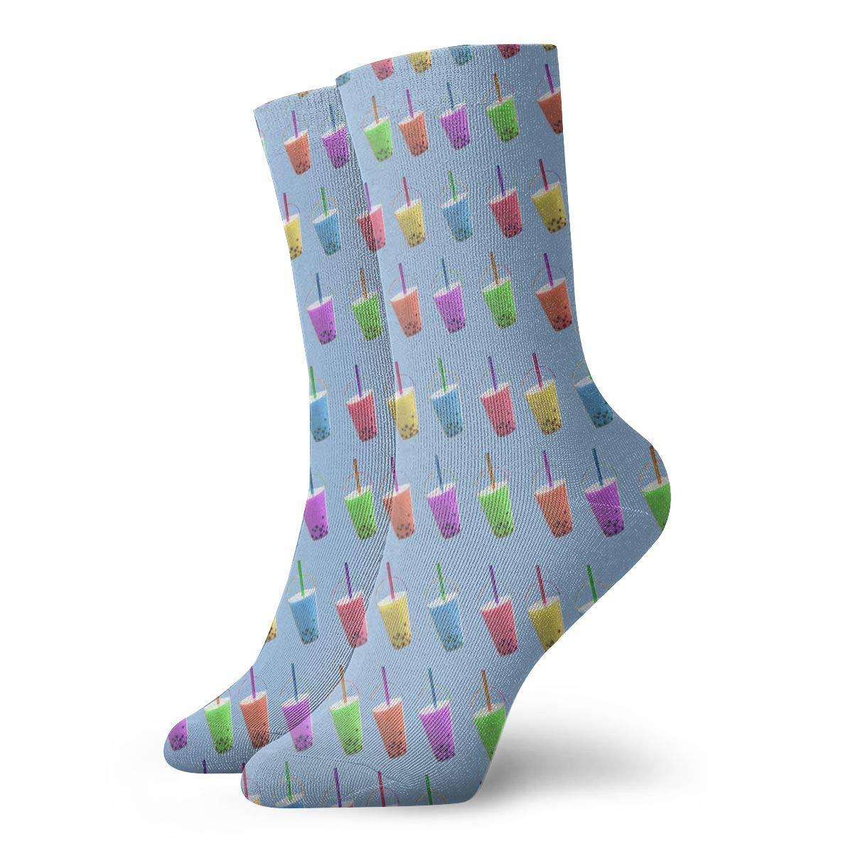 Sweet Bubble Tea Colorful Unisex Funny Casual Crew Socks Athletic Socks For Boys Girls Kids Teenagers