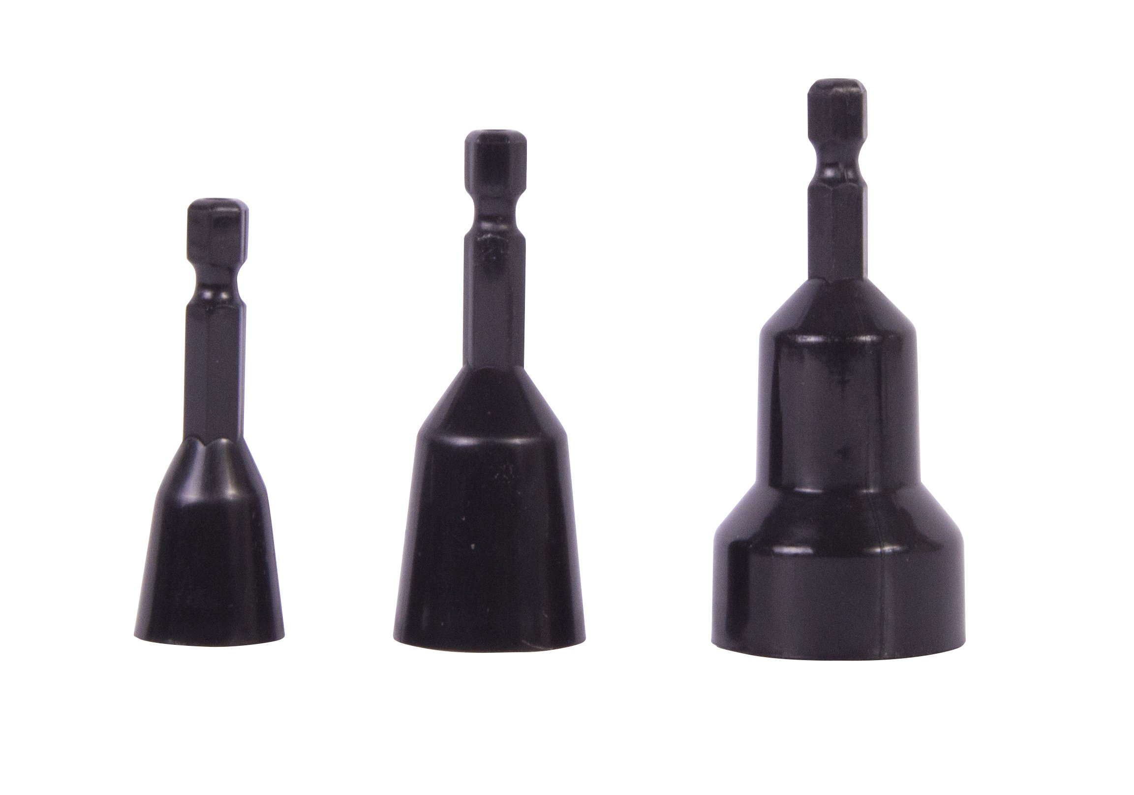 Gardner Bender WB1 Connector Bit Set, ¼ in. Electrical Driver, Fits: Standard and Winged Wire Nuts, 3 Pk, Black