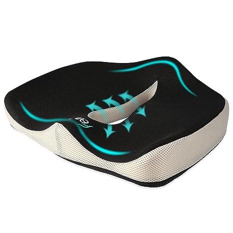 Seat Cushion, Feagar Memory Foam Chair Pad/Coccyx Pillow For Car Seat,  Office