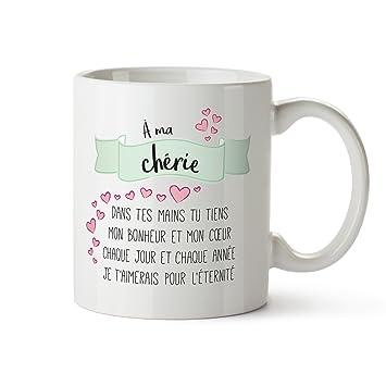 Tasse Romantique - Poème d amour imprimé - À ma chérie - Standard - Tasse 20c894b3d04