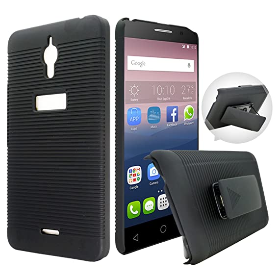finest selection 69d89 da559 Alcatel PIXI 4 6.0 inches(3G) Case, Customerfirst - Heavy Duty Hybrid Armor  Dual Layer Kickstand Belt Clip Holster Combo Rugged Case for Alcatel PIXI  ...