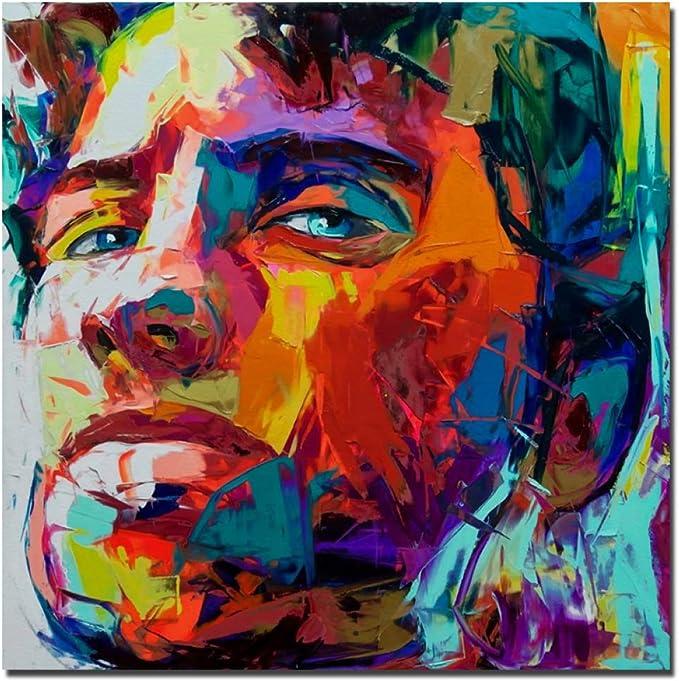 Yhzsml Superbe Artiste Nielly Francoise Portrait Peinture A L Huile Reproduire Reproduction Sur Toile Pour Salon Peinture A L Huile Mur Art 50x50cm Amazon Fr Cuisine Maison