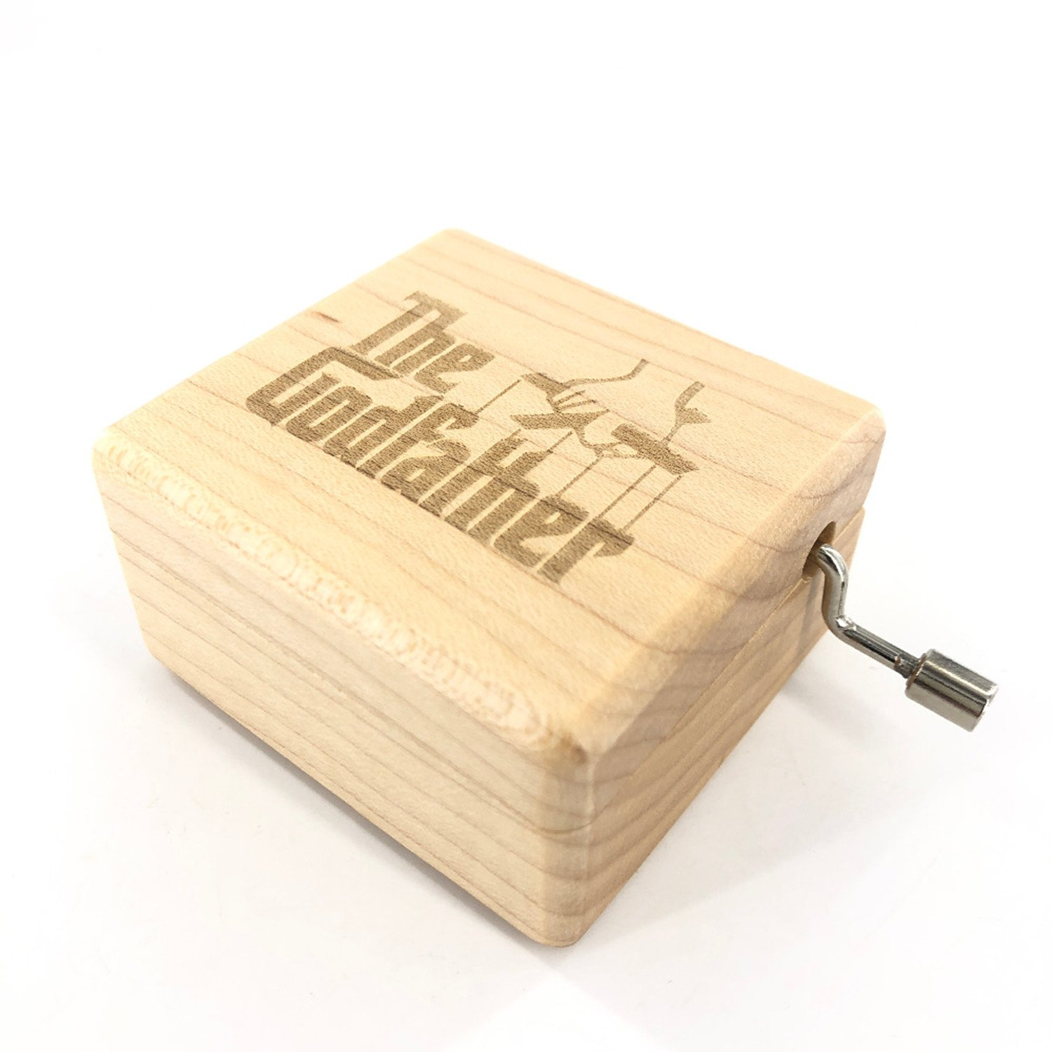 The Godfather Music Box - 18 Note Mechanism Antique Laser Engrave Wood Musical Box Crafts Melody Castle in Hand by Huntmic (Image #2)