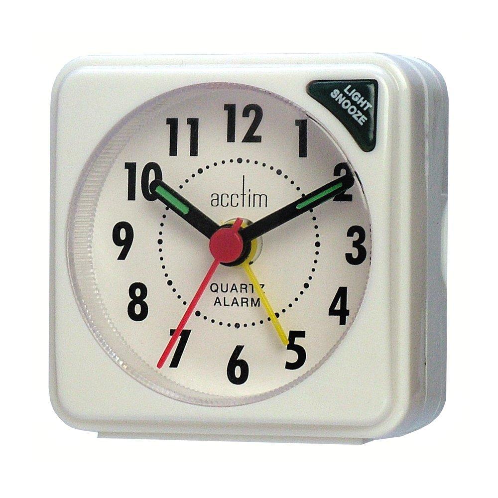 Acctim Black Ingot Travel Alarm With Light CK2020 Clocks Clocks