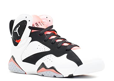 ea3868baebbb Nike Air Jordan 7 Retro GG 442960-106 White Black Hot Lava Kids