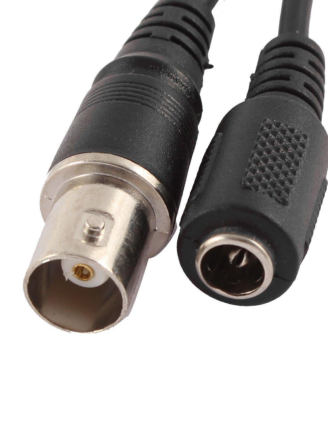 5.5x2.1m m eDealMax BNC hembra conector de alimentación DC a 5 alambre CCTV cable de la cámara Negro - - Amazon.com