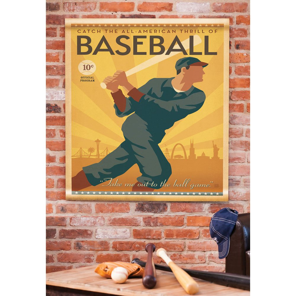 Cape Craftsmen American Baseball Artisan Canvas Wall Tapestry