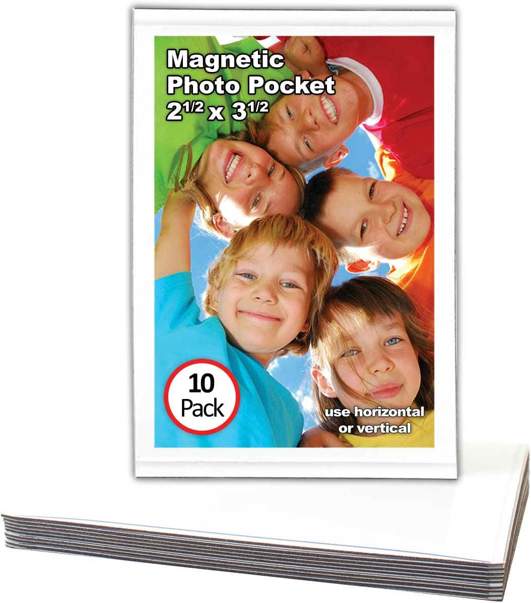 24 MAGNETIC PHOTO POCKETS..SIZE 2.5 X 3.5..., PICTURES SNAPSHOTS ALBUMS