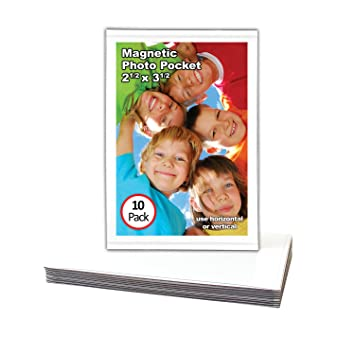 Amazon.com: Magtech 12310 Magnetic Pocket Picture Frame Holds 2.5 x ...