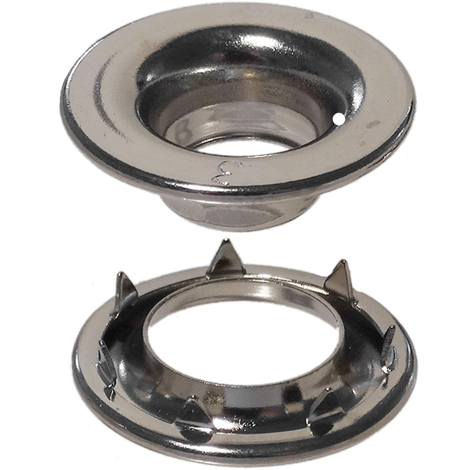 Stimpson Rolled Rim Grommet and Spur Washer Nickel-Plated Durable, Reliable, Heavy-Duty #3 Set (720 Pieces of Each)
