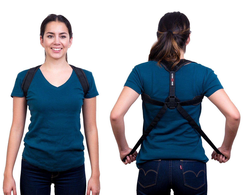 "Back Posture Corrector Adjustable 28""-48"" - Clavicle Support Brace - Back Posture Brace - Upper Back Support - Shoulder Support - Stop Slouching - Boost Confidence - Men and Women -Infini Health"