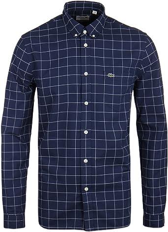 Lacoste Ch3946 - Camisa Regular fit para Hombre, Multicolor (Marine/Blanc), 46 (Talla del fabricante: 46): Amazon.es: Ropa y accesorios