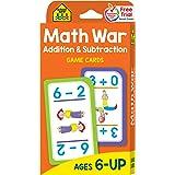 School Zone - Math War Addition & Subtraction Game Cards - Ages 6 and Up, Kindergarten, 1st Grade, 2nd Grade, Math Games, Num