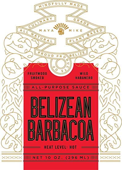 Maya Mikes Belizean Barbacoa All Purpose Hot Sauce, SMOKIN HOT, 10 oz.