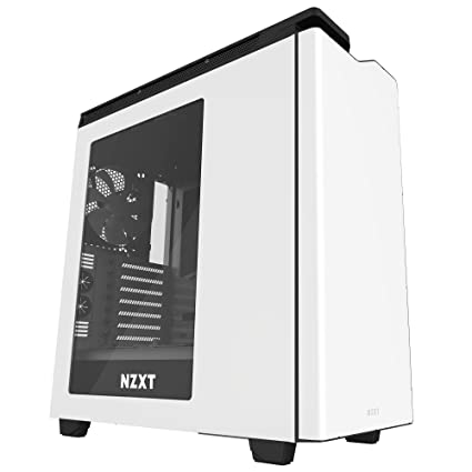 NZXT H440 Mid Tower Computer Case, White/Black (CA-H442W-W1