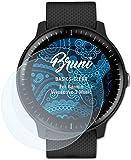 Bruni Screen Protector for Garmin Vivoactive 3 Music Protector Film - 2 x crystal clear Screen Protection Film