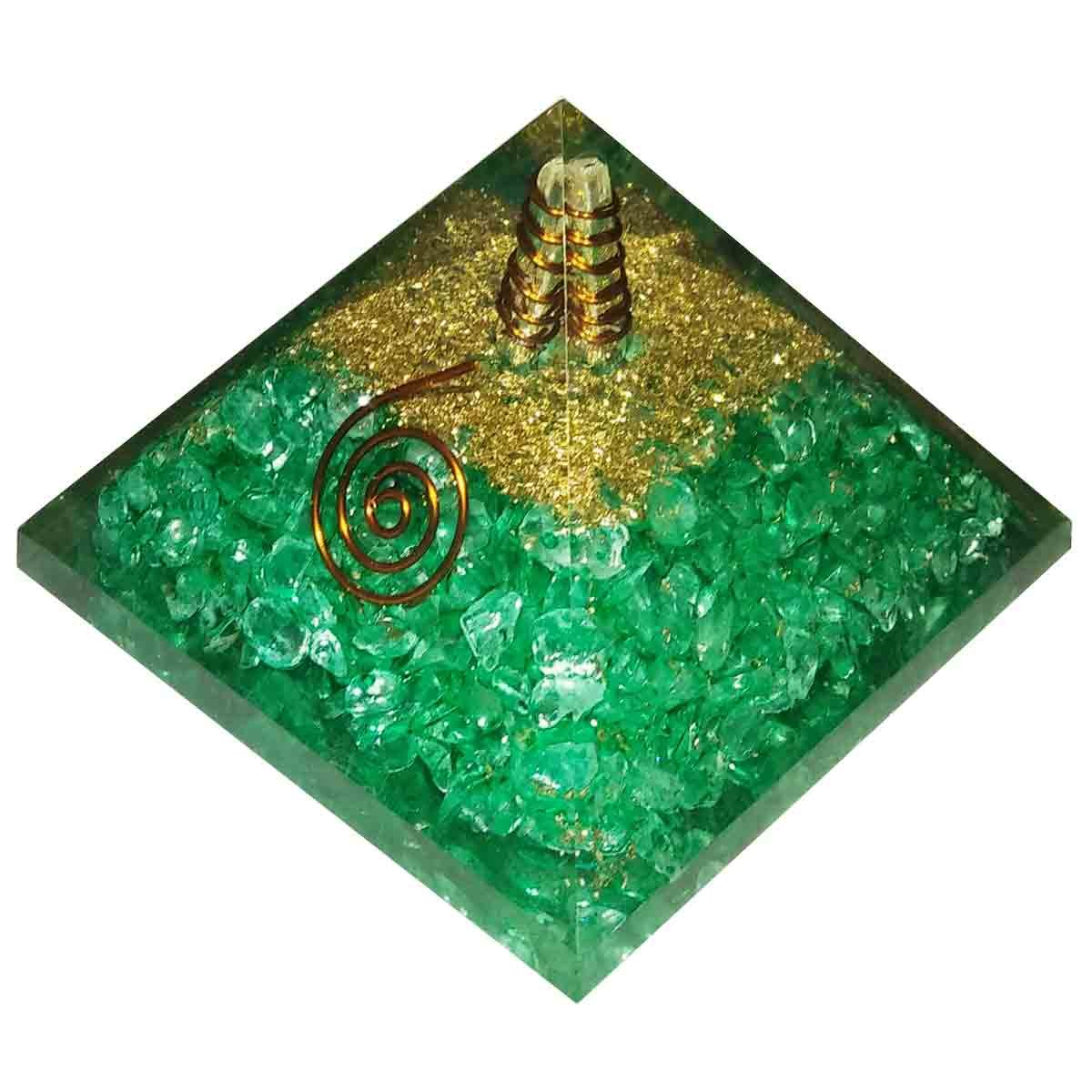 Apatite Orgone Pyramid Energy Generator Reiki Crystal Healing Spritual Therapy IndiaDeals