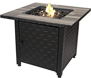 Endless Summer 31.5-in W 50000-BTU Black/Grey Tabletop Steel Propane Gas Fire Table