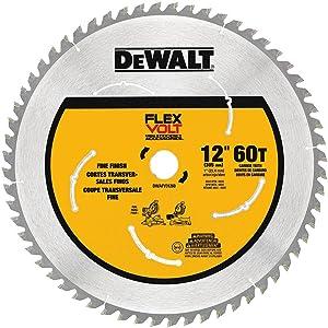 """DEWALT DWAFV31260 Flexvolt 60T Miter Saw Blade, 12"""""""
