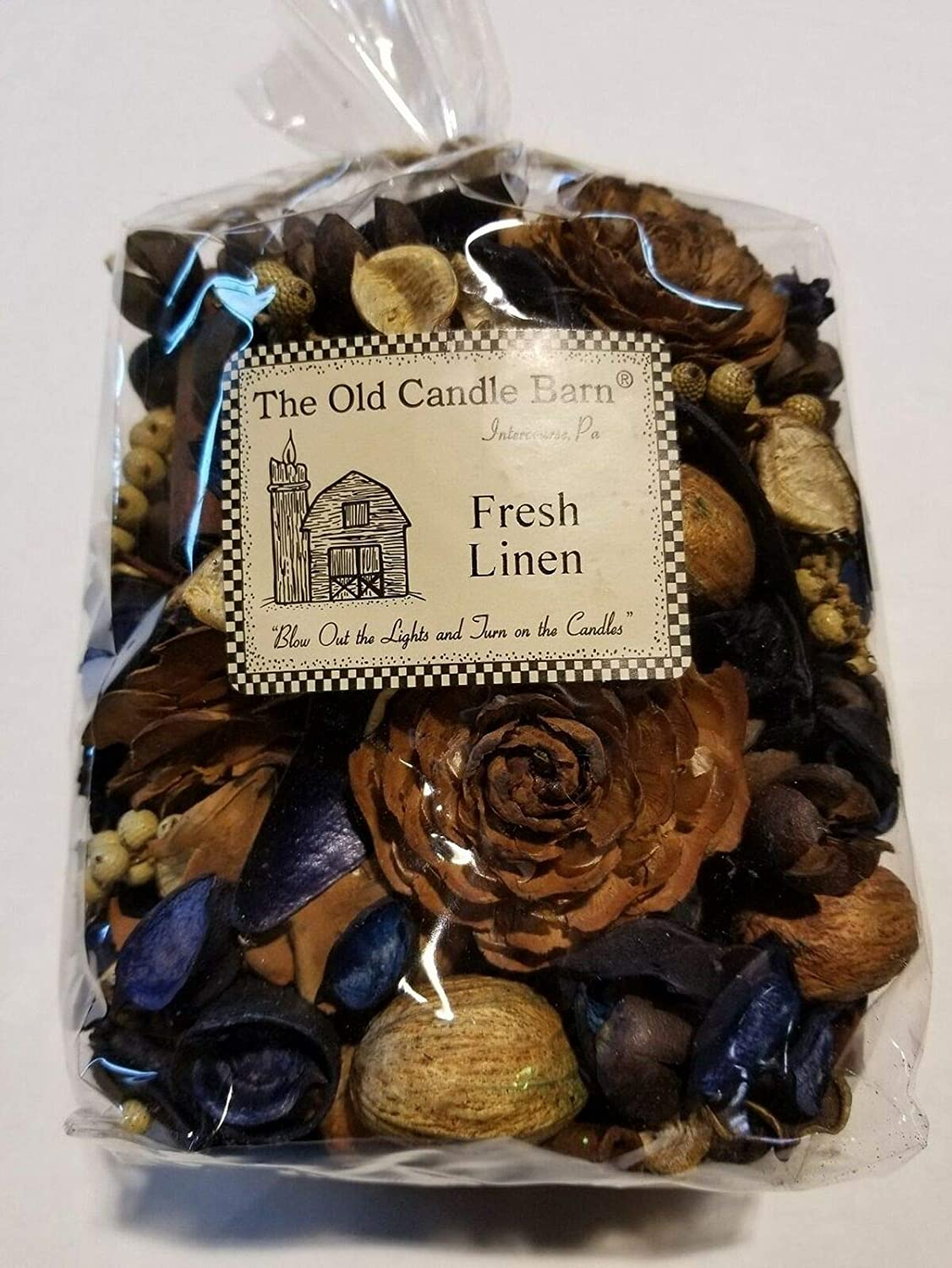Old Candle Barn Fresh Linen Potpourri Large Bag - Perfect for Spring, Summer, Fall, and Winter Decoration or Bowl Filler