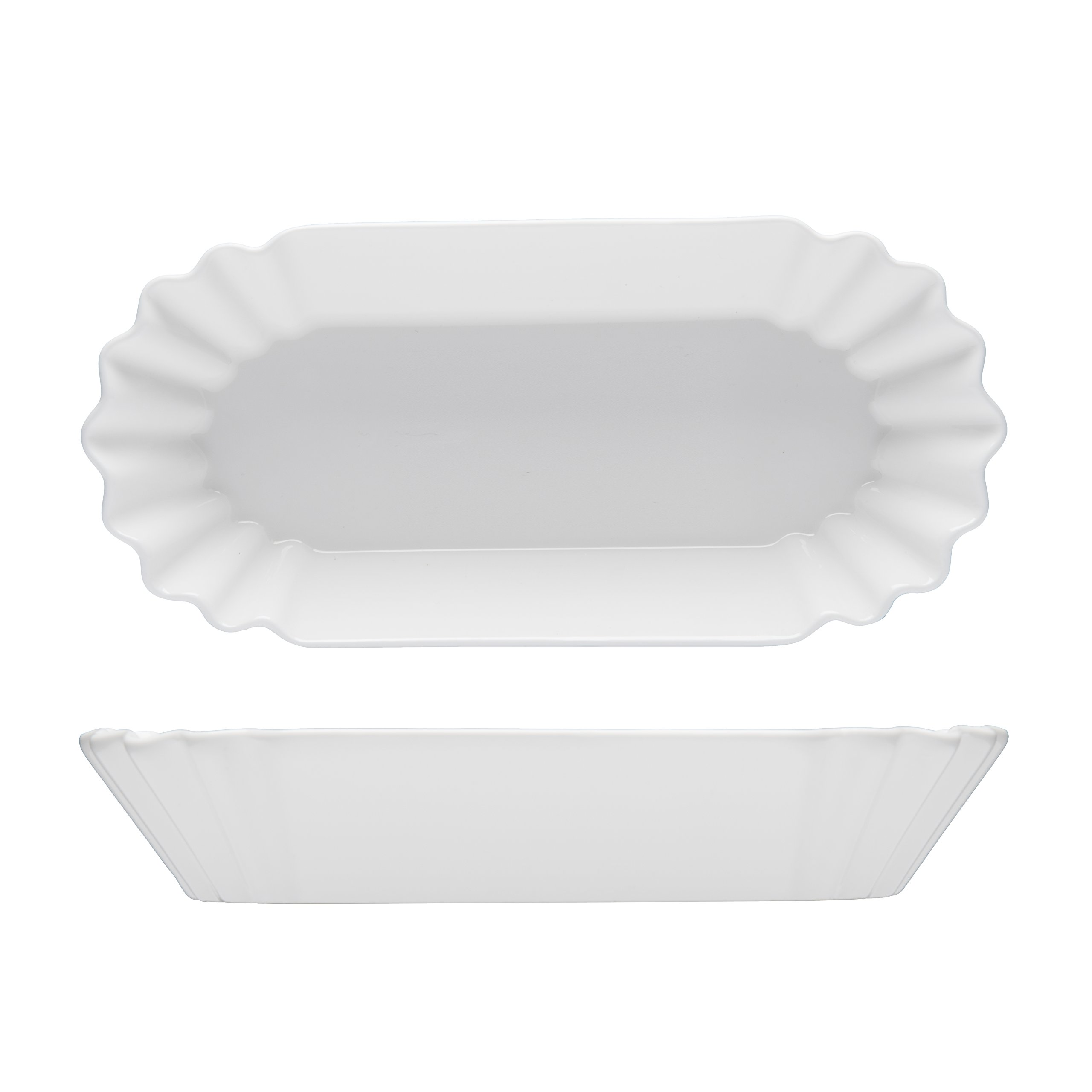 Fortessa Fortaluxe Food Truck Chic Hot Dog Plate, 8.25 x 4-Inch, Set of 4
