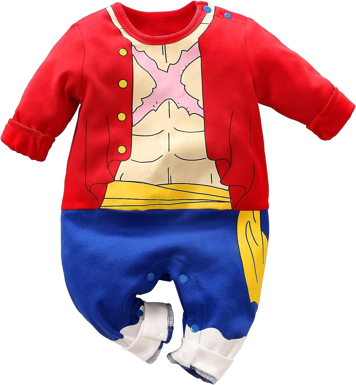 Beb/é Ropa Cosplay Vestido Anime reci/én Nacido Jumpsuits beb/é Encantador Dibujo sarcos Caricatura