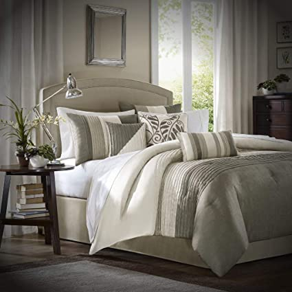 Amazon.com: Luxury Comforter Set California King - 7 Piece ...