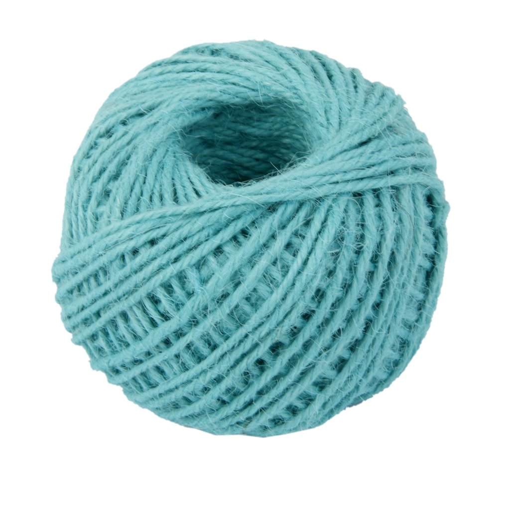 50M Wrap Gift Hemp Rope Ribbon Twine Rope Cord String Ball Blue Generic