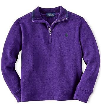 Amazon.com: Polo Ralph Lauren Little Boy's Cotton Half-Zip Pullover:  Clothing