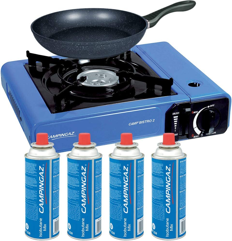 Cocina Campingaz Bistro 2 + 4 Cartuchos de Gas Campingaz ...