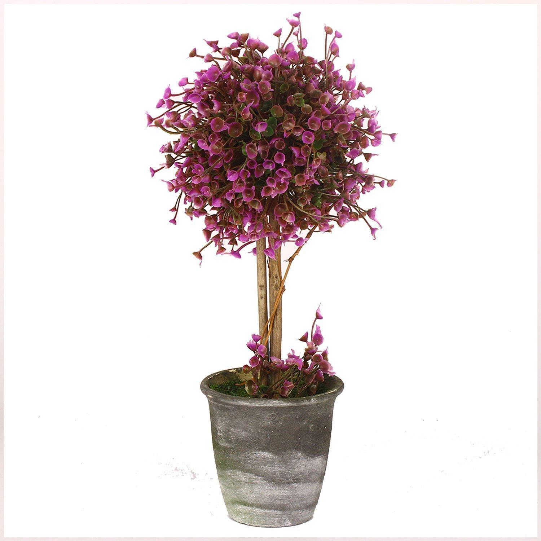 VGIA - Pianta artificiale in vaso, decorazione per la casa in stile retrò , con vaso di altezza 30,5 cm, colore: viola decorazione per la casa in stile retrò