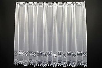 Scheibengardine Jacquard grafisch 70 cm hoch   Breite der Gardine