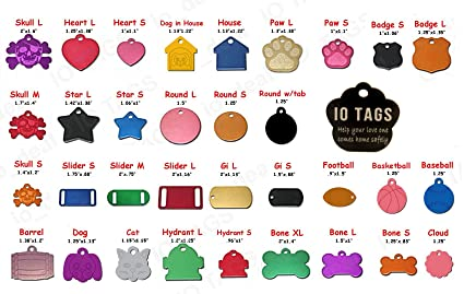amazon com laser etched aluminum pet id tag for dog cat tag