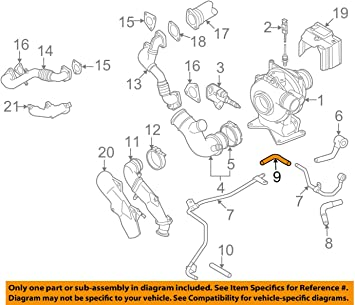 GM OEM Turbocharger Turbo-Return Hose 97383472