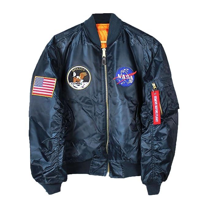 Amazon.com: Bomber Jacket Apollo 11 NASA MA-1: Clothing