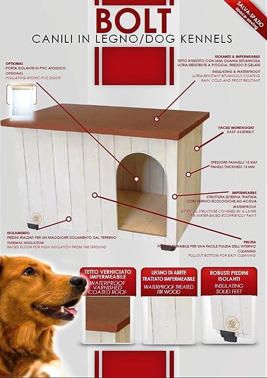 - Ze Lin Pet Home S.L - Caseta de Madera para Perros Bolt Small: Amazon.es: Productos para mascotas