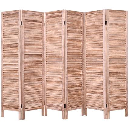 Amazoncom Giantex 6 Panel Screen Room Divider Wood Folding