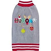 Kyeese Chirstmas Suéteres para perro con campana de perro suéter con agujero de correa para perro feo