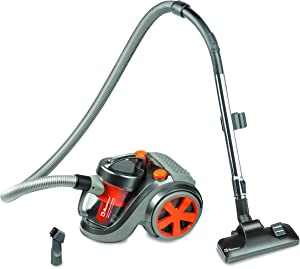 Koblenz Canister Vacuum Cleaner - Corded, Gray/Red