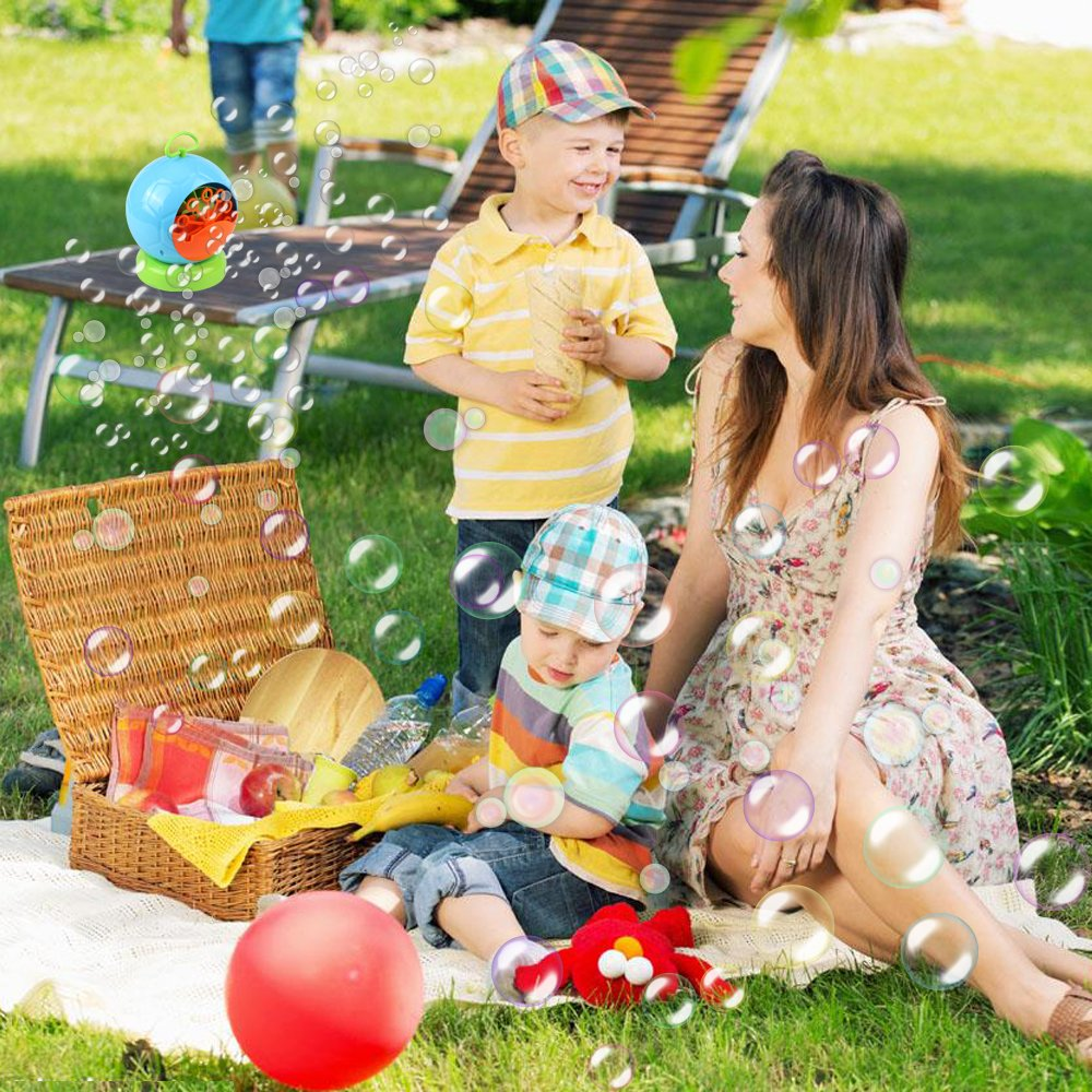 AMOSTING Bubble Machine Automatic Bubbles Blower for Kids Outdoor Toys Party Supplies Bubble Maker with Bubble Wands by AMOSTING (Image #6)