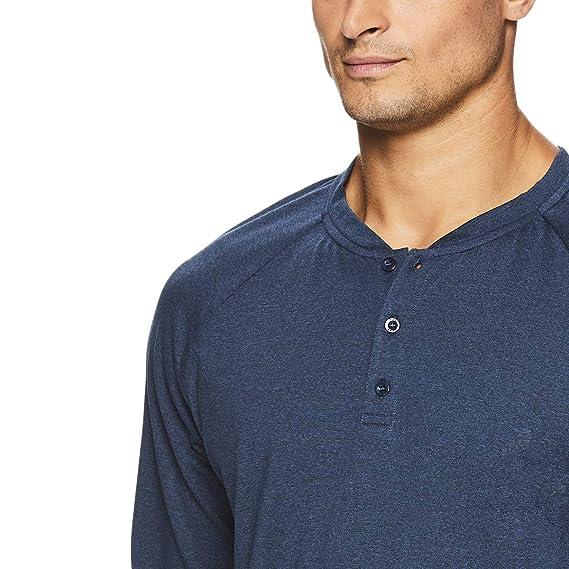 16e11735b4 Amazon.com: Gaiam Men's Long Sleeve Henley T Shirt - Yoga & Workout  Activewear Top: Clothing