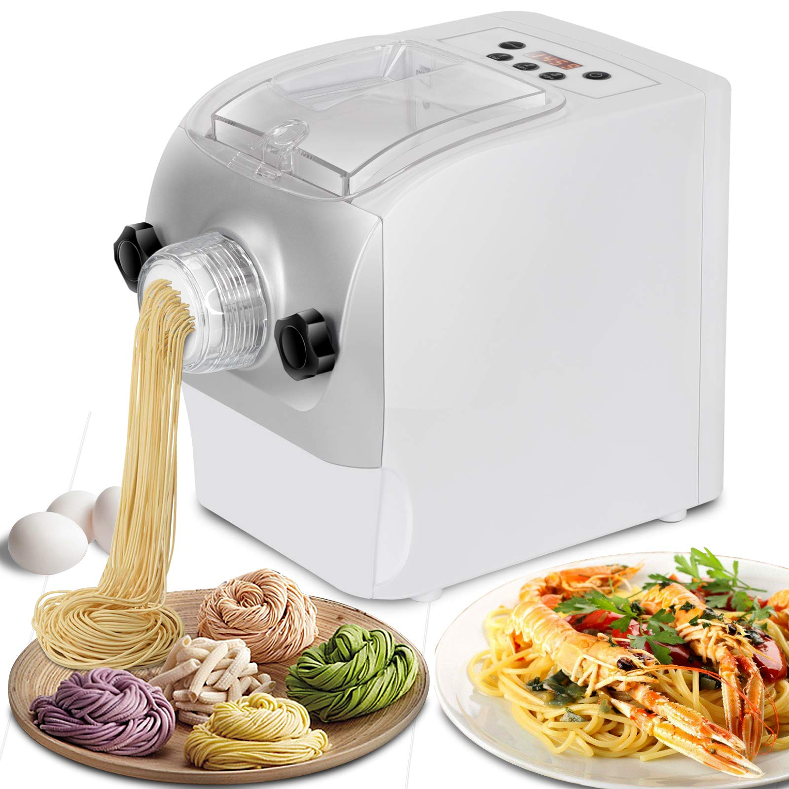 Oteymart Electric Pasta and Noodle Maker Automatic Noodle Making Machine Multi-functional with 8 Shape Options by Oteymart