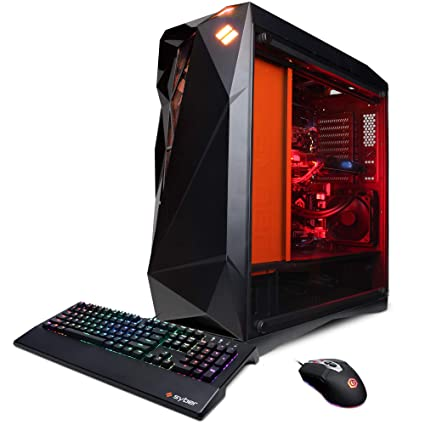 CYBERPOWERPC Syber Forti SFG9DX Gaming PC (Intel Core i7-9700K, 16GB DDR4,  NVIDIA GeForce RTX 2080 8GB, 480GB SSD, 3TB HDD, WiFi & Win 10) Black
