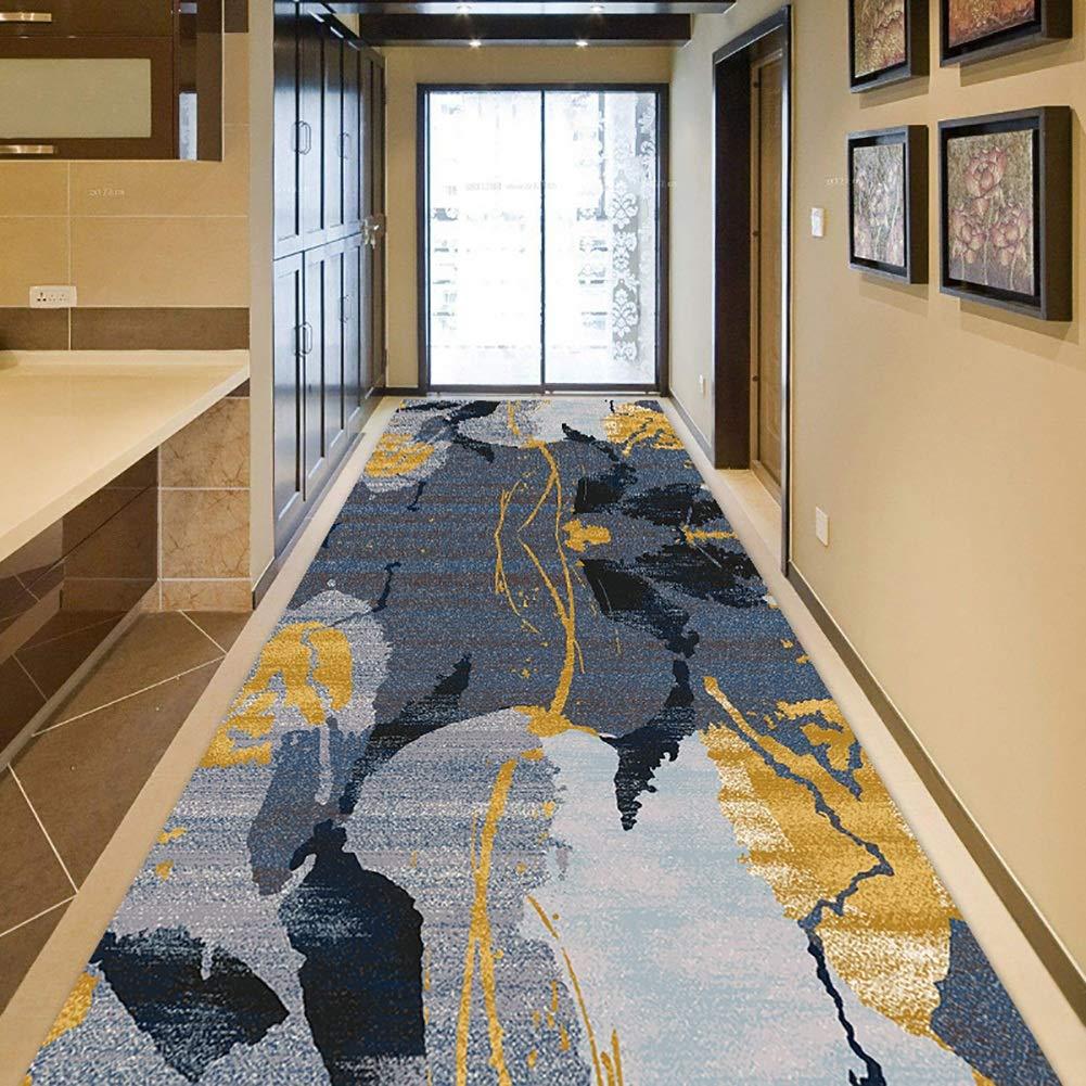 GuoWei-じゅうたん ラグ 現代の パターン ための ロング 入り口 廊下 リビングルーム 非スキッド 低い山 サーマル印刷 複数のサイズ カスタマイズ可能 (Color : A, Size : 1.4x9m) 1.4x9m A B07SR4H1RQ