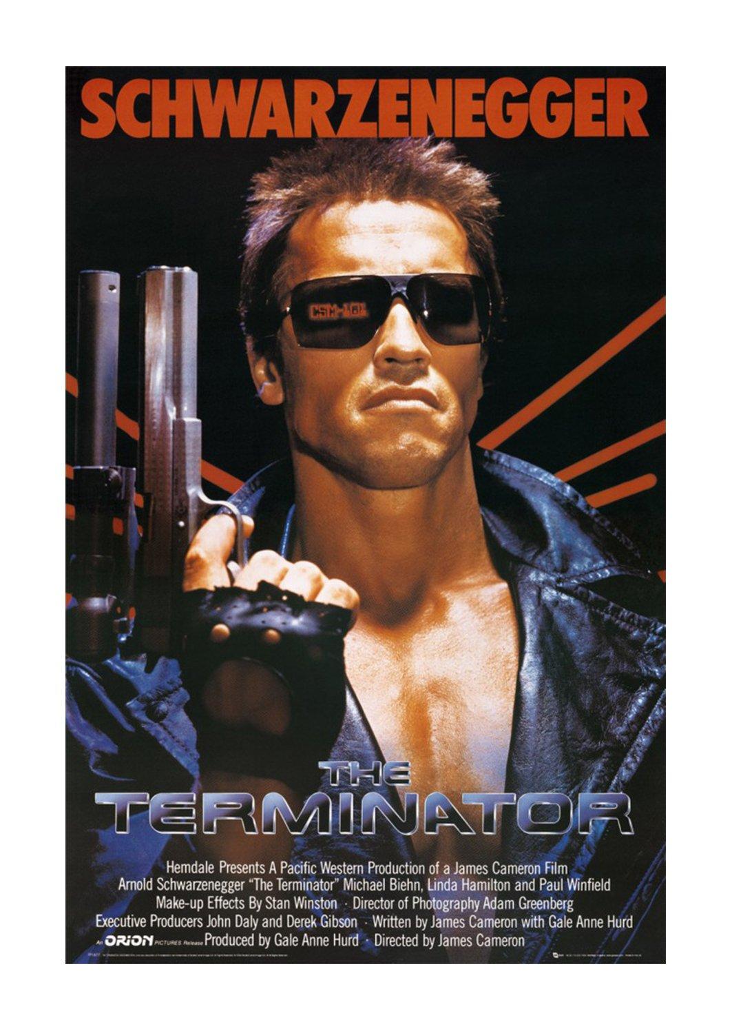 The Terminator 60 x 90 90 90 cm Rahmen auf MDF-Rand schwarz 9ed3a6